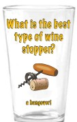 Humor drinking glass